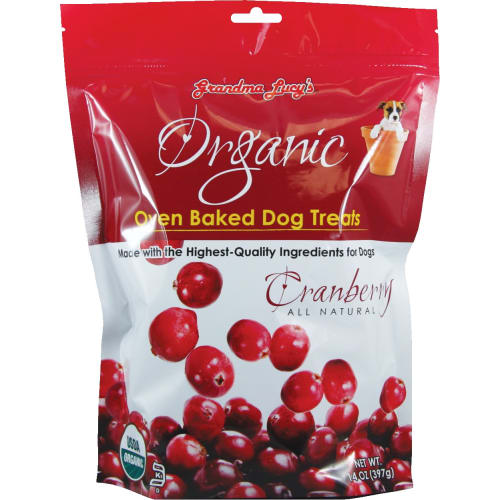 Grandma Lucy's - Organic Oven Baked Cranberry Recipe Dog Treats, 14oz