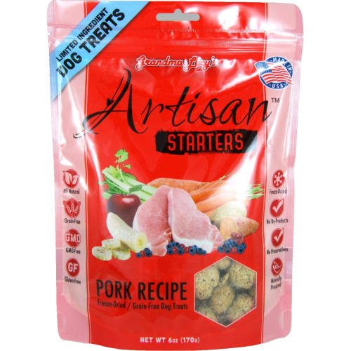 Grandma Lucy's - Artisan Pork Freeze Dried Dog Treat, 6oz