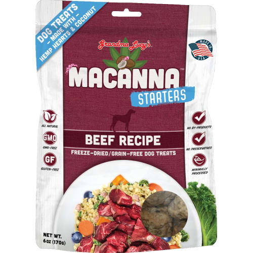 Grandma Lucy's - Starters Macanna Beef Freeze Dried Dog Treat, 6oz