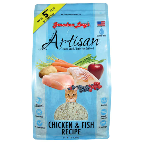 Grandma Lucy's - Artisan Grain Free Chicken & Fish Cat Food, 1lb