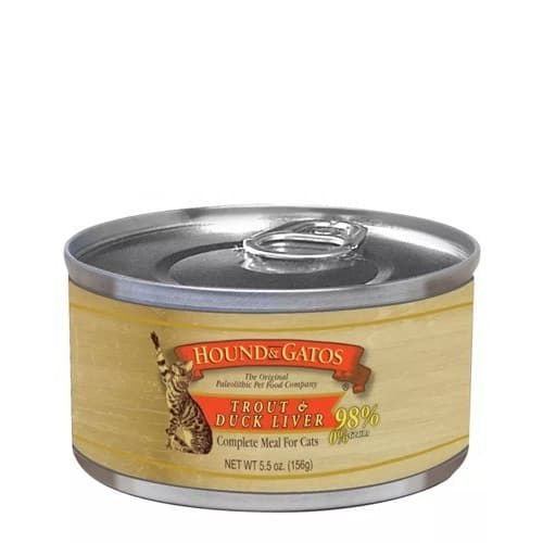 Hound And Gatos - Trout & Duck Liver Canned Cat Food, 5.5oz