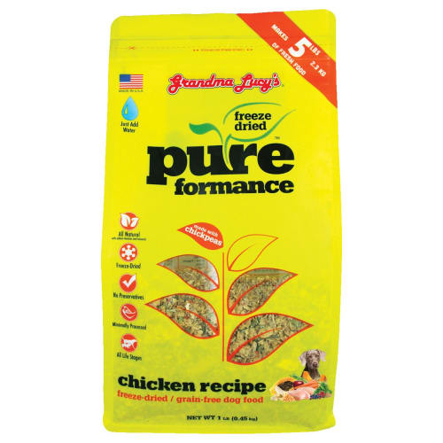Grandma Lucy's - Pureform Grain Free Chicken/Chickpea Freeze-Dried Dog Food