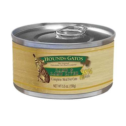 Hound And Gatos - Lamb & Lamb Liver Canned Cat Food, 5.5oz