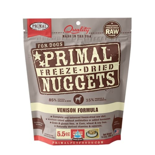 Primal - Venison Formula Nuggets Grain-Free Freeze-Dried Dog Food
