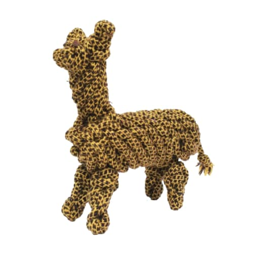 Aussie Naturals - Cotton Rope With Water Bottle Giraffe