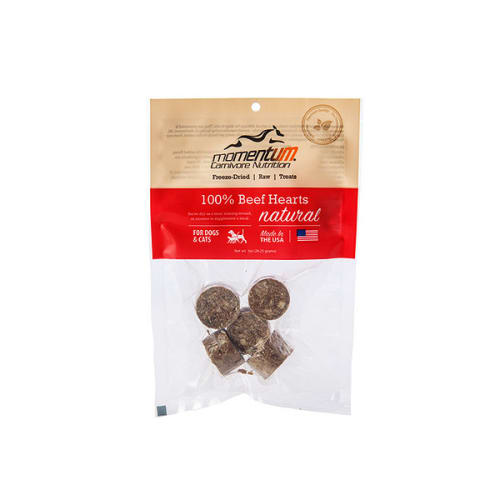 Momentum - 100% Beef Hearts Freeze-Dried Grain-Free Dog & Cat Treats
