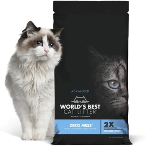 World's Best - Zero Mess Clumping Cat Litter, 6lbs