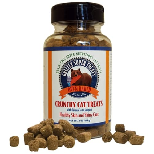 Grizzly Pet Products - Crunchy Cat Treats With Omegas, 3oz