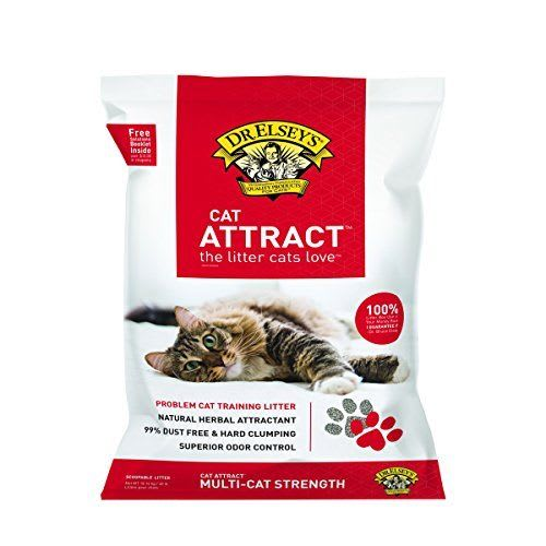 Cat Attract Problem Cat Training Hard Clumping Cat Litter, 40lb