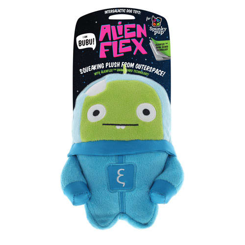 Spunky Pup - Alien Flex Bubu Plush Dog Toy