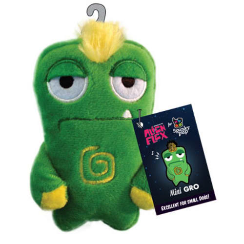 Spunky Pup - Alien Flex Mini Gro Plush Dog Toy