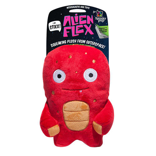 Spunky Pup - Alien Flex Mini Stixx Plush Dog Toy