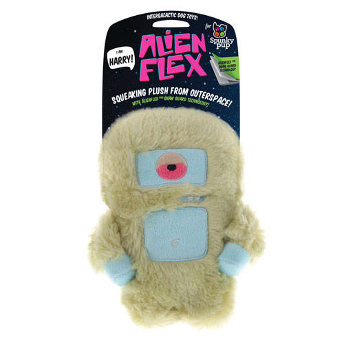 Spunky Pup - Alien Flex Harry Plush Dog Toy