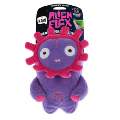 Spunky Pup - Alien Flex Kam Plush Dog Toy