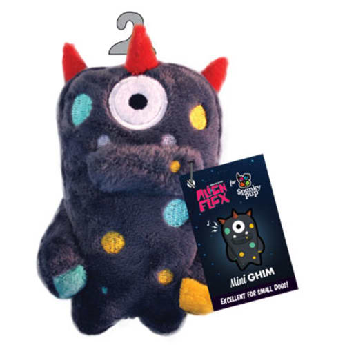 Spunky Pup - Alien Flex Ghim Mini Plush Dog Toy