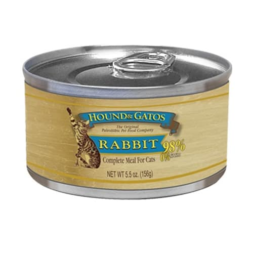 Hound And Gatos - Rabbit Grain-Free Canned Cat Food, 5.5oz