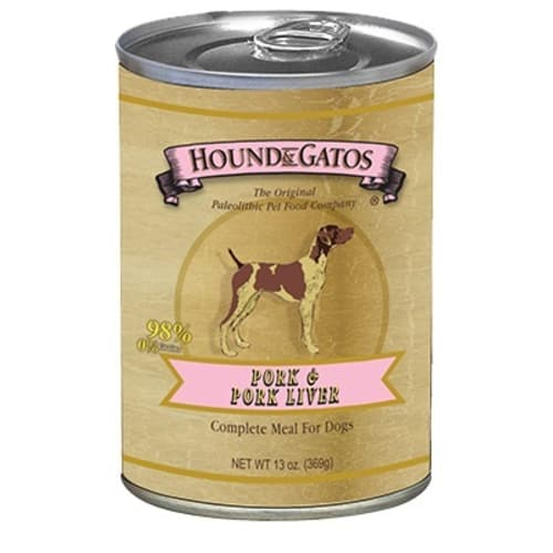 Hound And Gatos - Grain Free Pork/Pork Liver Wet Dog Food, 13oz