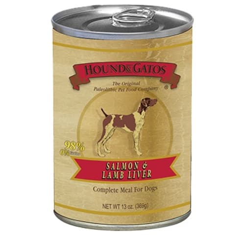 Hound And Gato - Grain Free Salmon/Lamb Liver Wet Dog Food, 13oz
