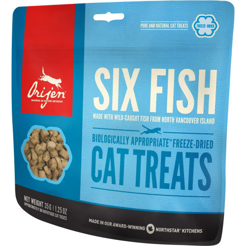 Orijen - Grain Free Freeze Dried Six Fish Cat Treat, 1.25oz