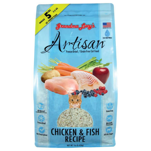 Grandma Lucy's - Artisan Grain Free Chicken/Fish Freeze-Dried Cat Food,3lbs