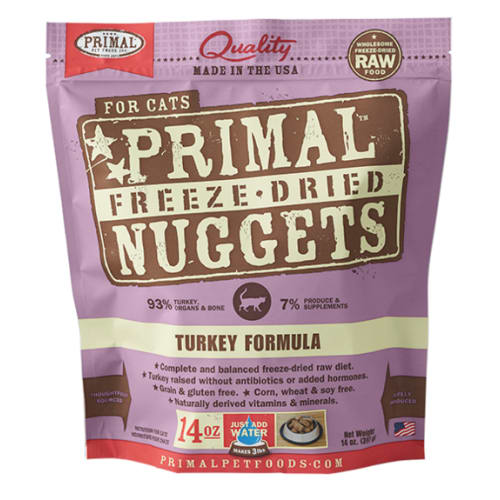 Primal - Feline Freeze Dried Turkey Nuggets, 14oz