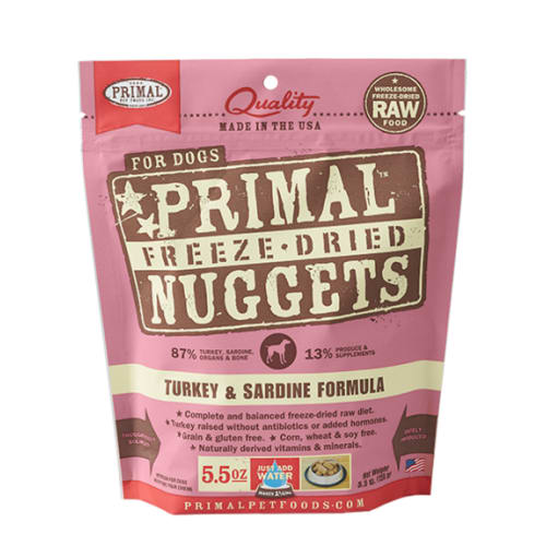Primal - Turkey & Sardine Formula Nuggets Grain-Free Freeze-Dried Dog Food