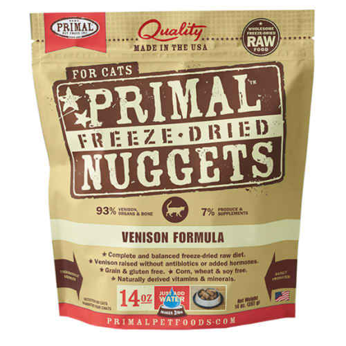 Primal - Feline Freeze Dried Venison Nuggets, 14oz