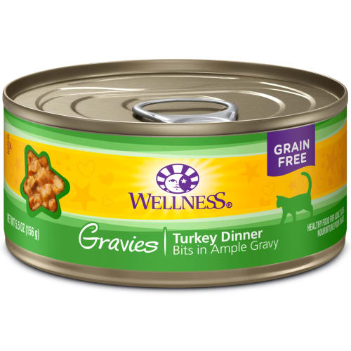 Wellness - Complete Health Gravies Turkey Dinner Wet Cat Food, 3oz