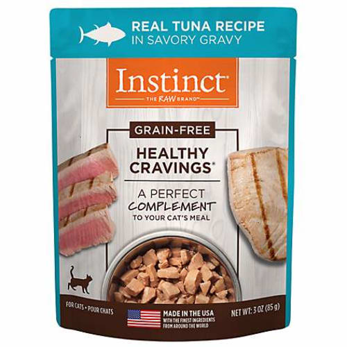 Nature's Variety - Instinct Healthy Cravings Tender Tuna Recipe In Savory Gravy Grain-Free Cat Food Pouch