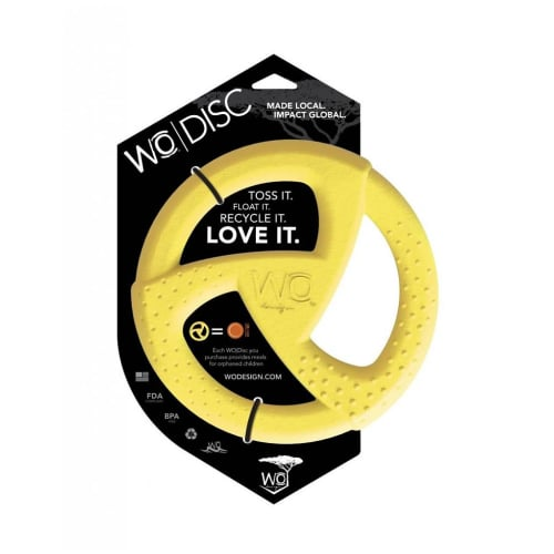 WO - Disc Dog Toy Yellow