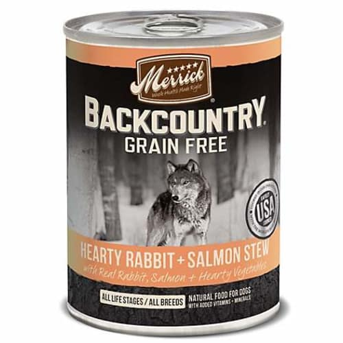 Merrick - Backcountry Hearty Rabbit & Salmon Stew Grain-Free Canned Dog Food, 12.7oz