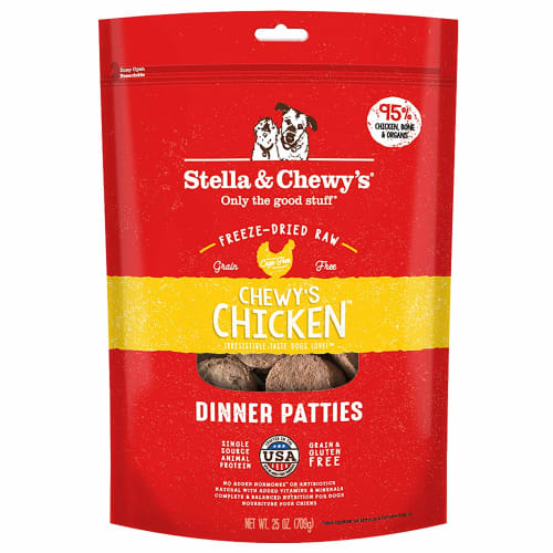 Stella & Chewy's - Chewy's Chicken Dinner Patties Grain-Free Freeze Dried Dog Food