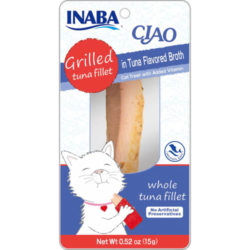 Inaba Ciao - Grilled Tuna Fillet In Tuna Broth Cat Treat, 0.52oz