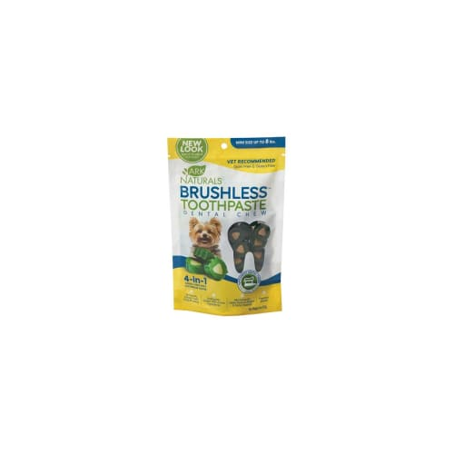 Ark Naturals - Breath-Less Brushless-ToothPaste Mini Size For Small Breed Dogs Dental Chew, 4oz