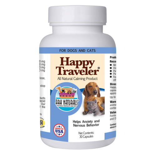 Ark Naturals - Happy Traveler Natural Herbal Calming Capsules For Pets, 30 Count