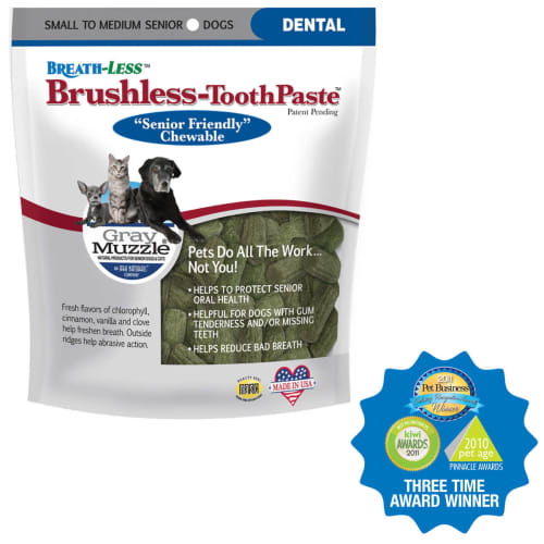 Ark Naturals - Gray Muzzle Brushless Toothpaste For Senior Small-Medium Dogs Dental Chews, 4.1oz