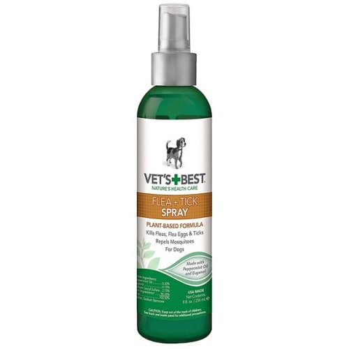 Vet's Best - Natural Flea & Tick Repellant Spray For Dogs, 8oz