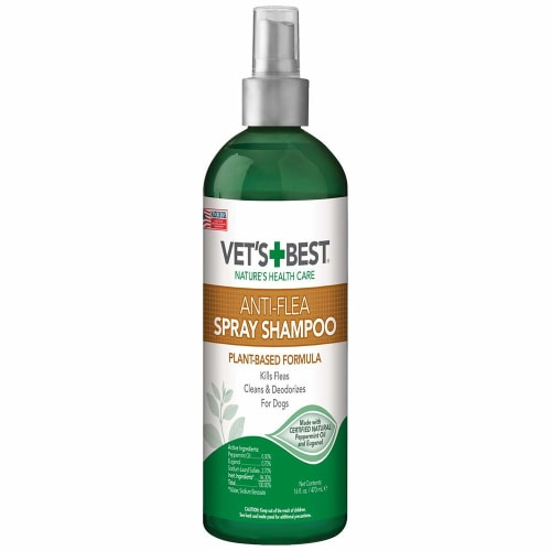 Vet's Best - Natural Anti-Flea Spray Shampoo For Dogs, 16oz