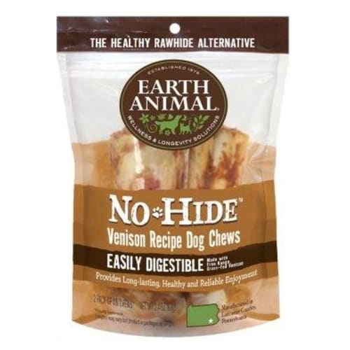 Earth Animal - No-Hide Easily Digestible Venison Dog Chew 2 Pack