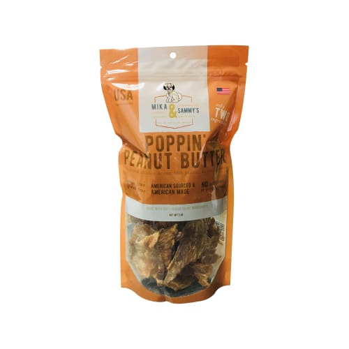 Mika & Sammy's - Poppin' Peanut Butter Grain-Free Dog Treats, 5oz