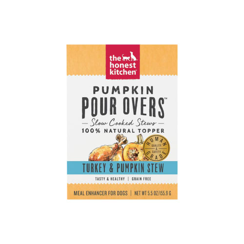 Honest Kitchen - Pumpkin Pour Overs Grain-Free Turkey & Pumpkin Stew Recipe Dog Food Topper, 5.5oz