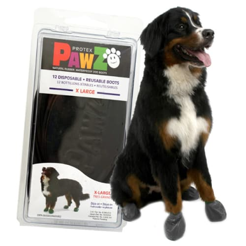 Pawz - 100% Biodegradable Natural Rubber Black Dog Boots