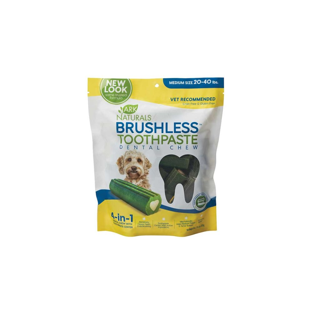 Ark Naturals - Breath-Less Brushless-ToothPaste For Medium-Large Dogs Dental Chew, 18oz