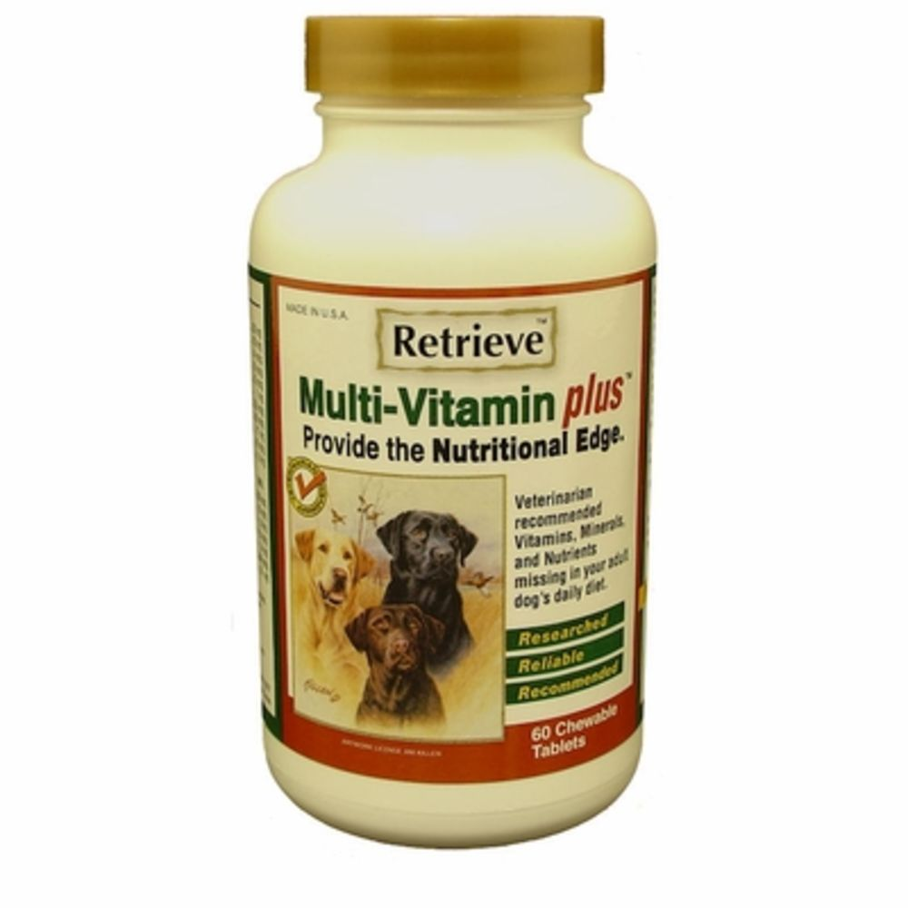 Retrieve Health - Multi-Vitamin Plus Chewable Tablets Grain-Free Dog Supplement, 60 Count