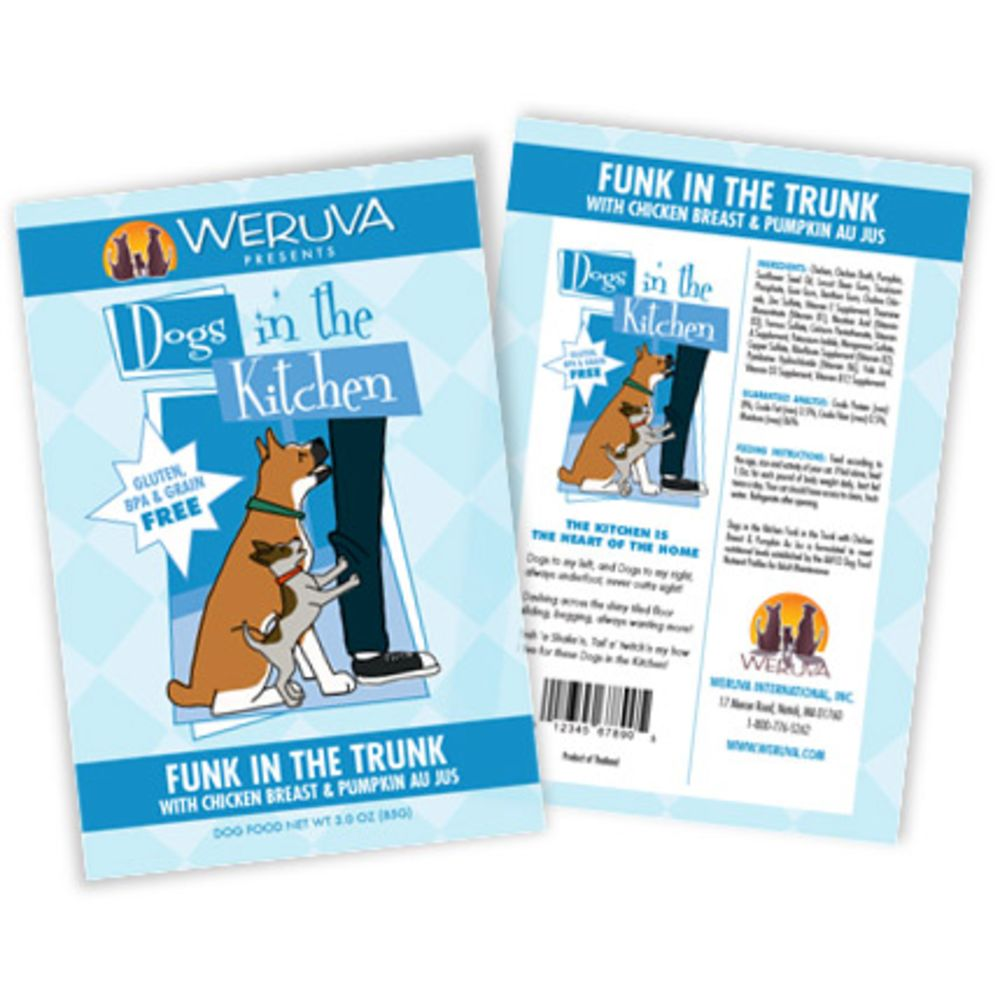 Weruva - Dogs In The Kitchen Funk In The Trunk Grain-Free Dog Food Pouch, 2.8oz