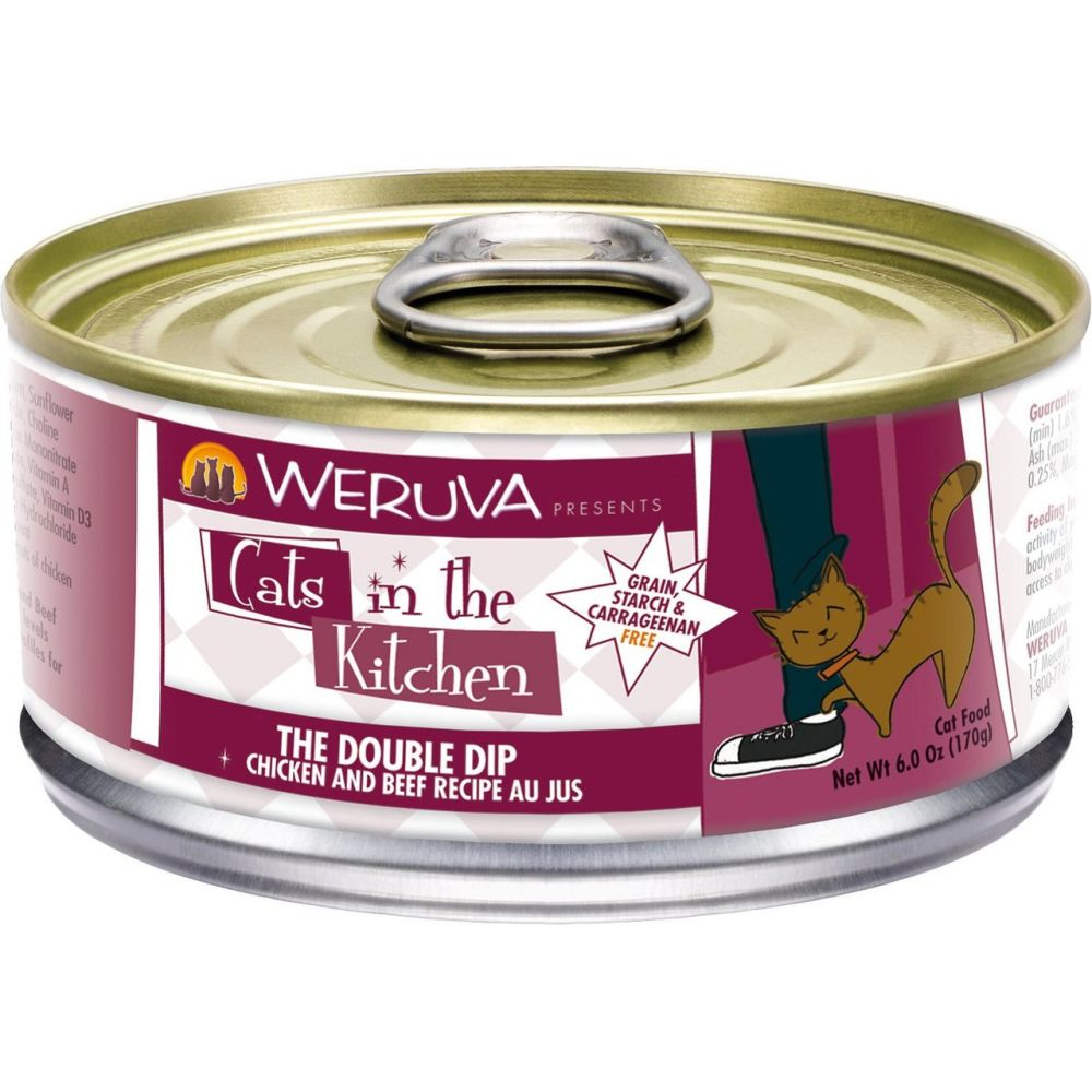 Weruva - Cats In The Kitchen The Double Dip Chicken And Beef Canned Cat Food