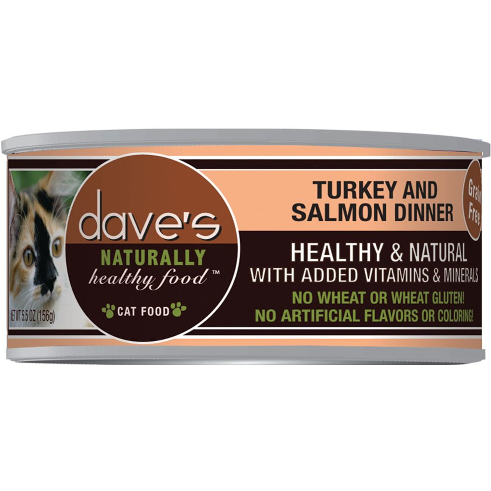 Dave's Pet Food - Naturally Healthy Turkey & Salmon Dinner Grain-Free Canned Cat Food