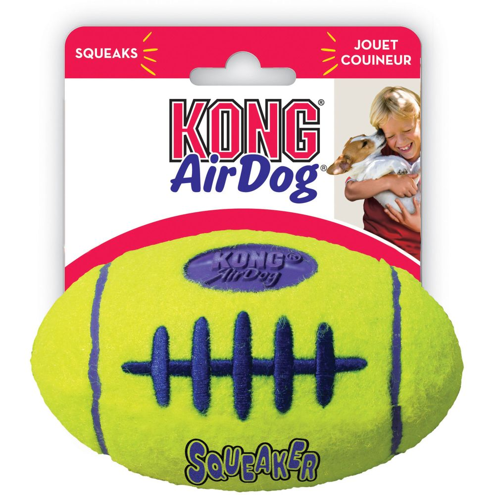 Kong - AirDog Squeaker Football Medium Dog Toy