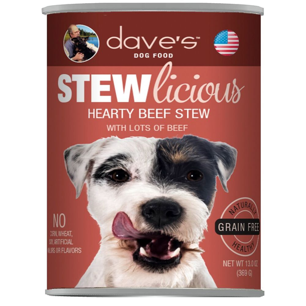 Dave's Pet Food - STEWlicious Hearty Beef Stew Grain-Free Canned Dog Food