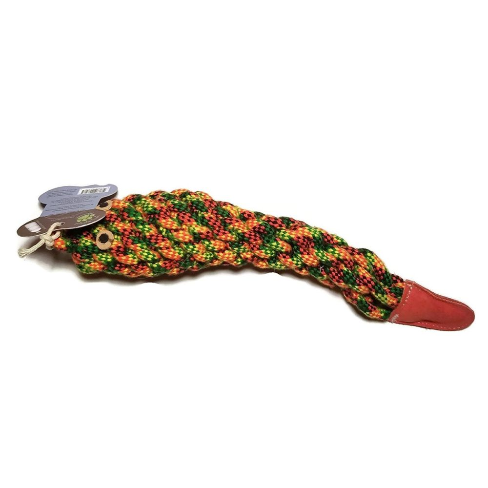 Aussie Naturals - 100% Natural Eco-Friendly Krinkle Head Snake Dog Toy